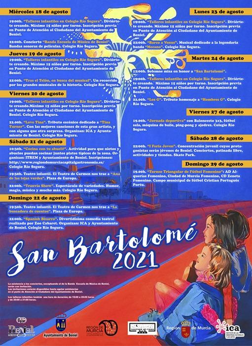 Programación socio-cultural con motivo de San Bartolomé 2021